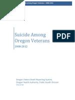 Suicide Among Oregon Veterans