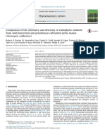 Comparison of the Chemistry and Diversity of Endophytes Isolated