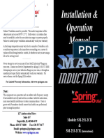MAX Induction By Spring USA - Installation & Operation Manual for SM-251-2CR & SM-253-2CR - Nov 2010.pdf