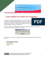 Habilitar Cookies en tu navegador