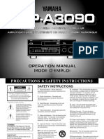 yamaha DSP-A3090 manual