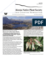 April 2010 Newsletter ~ Marin Chapter, California Native Plant Society