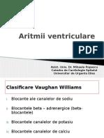 Curs 4 ECG Tulburari de Ritm Aritmii Ventriculare