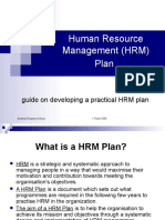 Human Resource Management HRM Plan