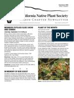 September 2009 Newsletter ~ Marin Chapter, California Native Plant Society