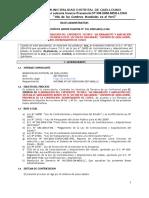 """BASES ELABORACION DEL EXPEDIENTE TECNICO """"MEJORAMIENTO Y AMPLIACIÓN DEL SISTEMA DE SANEAMIENTO BÁSICO EN EL SECTOR DE SAN MIGUEL"""" DISTRITO DE QUELLOUNO, PROVINCIA DE LA CONVENCION, DEPARTAMENTO DE CUSCO"""