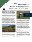 January-February 2009 Newsletter ~ Marin Chapter, California Native Plant Society