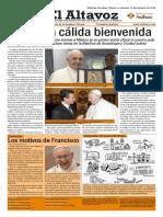 Altavoz Visita Papa Francisco Viernes