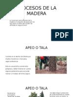 Procesos de La Madera