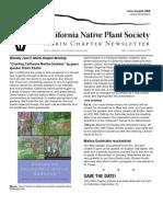 June-August 2008 Newsletter ~ Marin Chapter, California Native Plant Society