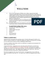 wellness syllabus