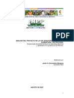 Analisis Proyecto Ley Soberania Alimentaria