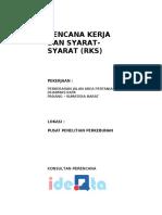 Rencana Kerja Dan Syarat-syarat Rks