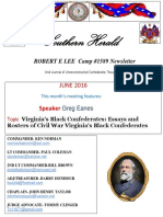 Robert E Lee Camp 1589 newsletter Southern Herald June