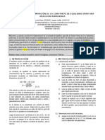Determinaciòn de La Constante de Equilibrio de Una Reaccion Homogenea (1)