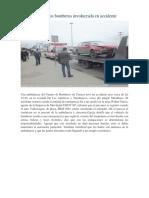 Ambulancia de Los Bomberos Involucrada en Accidente