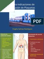 Contraindicaciones de la transfusión de plaquetas