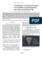 Researchpaper Modeling and Controlling of Conical Tank System Using Adaptive Controllers and Performance Comparison With Conventional PID