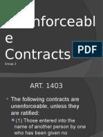 Unenforceable Contracts