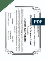 Ranjith Keerikkattil General Dynamics Exceptional Performance Award