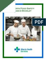 Alberta Food Safety Basics Home Study Booklet