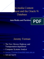 Multi Media Content Management and the Oracle Database Inter Media And