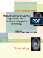 MELJUN CORTES - Operations Management 15th Lecture (SCHEDULING)