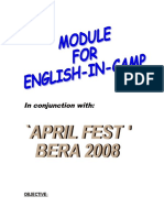 MODULE FOR ENGLISH IN CAMP
