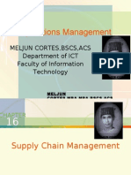 MELJUN CORTES - Operations Management 16th Lecture (SUPPLY CHAIN MANAGEMENT)