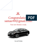 2016 Honda Accord Brochure