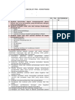 Checklist Prakonstruksi Icra