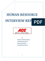 ACC HR Interview Report