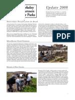 Berkeley Partners for Parks Newsletter, November 2008