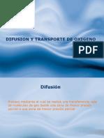 Difusion y Transporte de Oxigeno