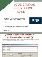 Openoffice Base (TIPOS de CAMPOS)