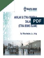 Akhlaq Dan Etika Bekerja Dalam Islam