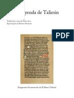 La Leyenda de Taliesin. Traduccion y Not (1)