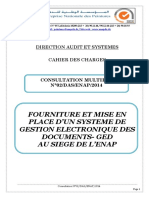 Cahier de Charges GED
