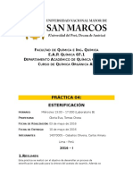 Informe 04 - Química Orgánica AII - 2016-I