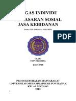 MAKALAH PEMASARAN SOSIAL