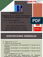 Analisis de La Ley de Sst y Su Reglamento (Copia)