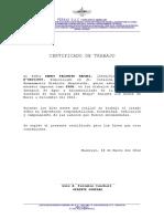 Certificado de Trabajo Terco