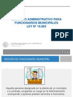 Presentación Estatuto Administrativo de los FF.MM Ley 18883