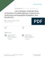 Fungi Pathogenic to Humans-candida, Aspergillus, Cryptococcus