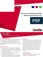 China Internet Crowdfunding and Wealth Management Industry Report, 2016