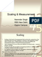 Scaling & Measurement