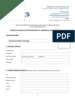 ISGS Application Form CVT