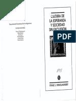 Hinkelammert, Franz 1995 Cultura de La Esperanza y Sociedad Sin Exclusion