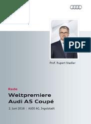 Weltpremiere Audi A5 Coupé: Rede Rupert Stadler