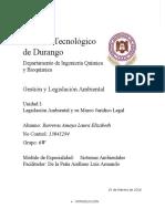 Unidad 1 Evidencia Legislación Ambiental